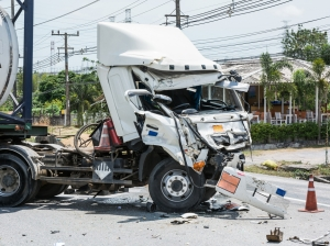 A large truck can cause exhorbitant damages.