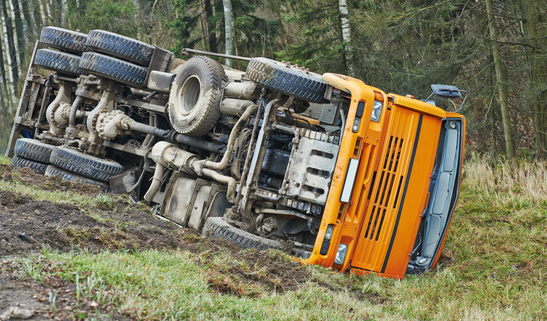 Sometimes truck accidents are caused by simple driver mistakes.