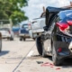 Who is liable for a chain-reaction car accident in Fort Lauderdale, Florida?