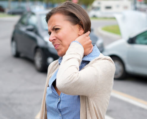 Can a car accident victim recover compensation for a whiplash injury in Tampa, Florida?