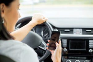 How to prove a driver was texting before an accident in Gainesville, Florida?