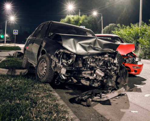 What happens when there are three cars involved in an accident in Fort Walton Beach, Florida?
