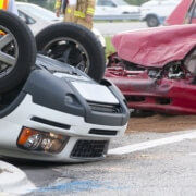 How can a car accident victim hold a speeding driver accountable for causing an accident in Wyoming?